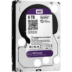 """Western Digital HDD WD60PURZ6TB 3.5"""" Purple"""